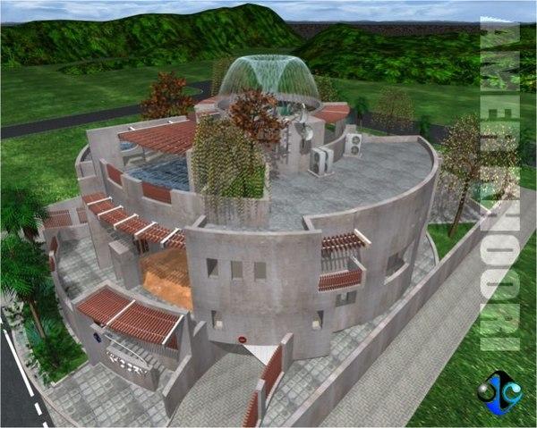 3ds max house villa