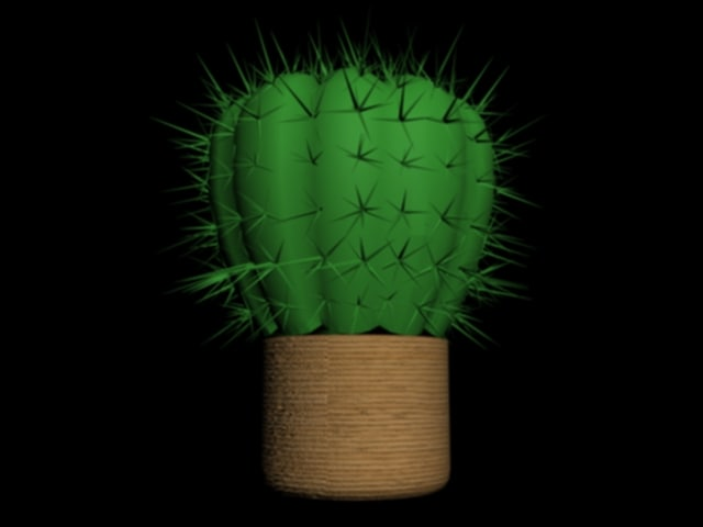 cactus barrel 3d ma