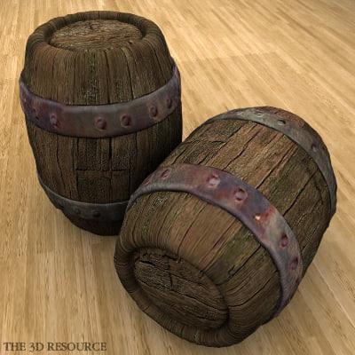 rustic barrel 3d max