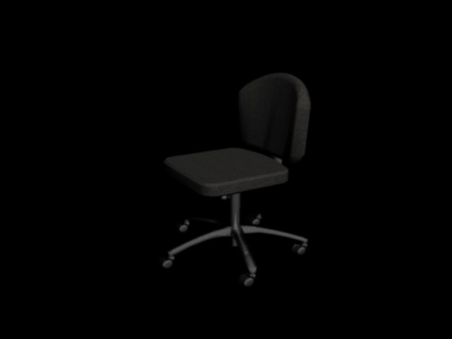 3dsmax chair adjustable