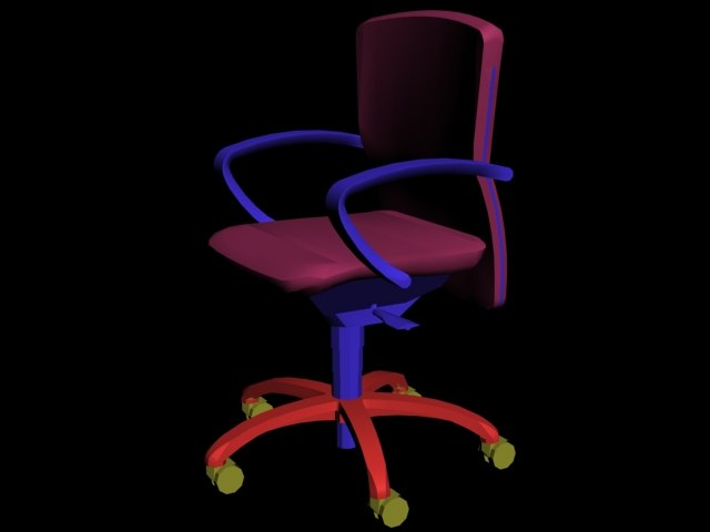 chair arm adjustable 3d model