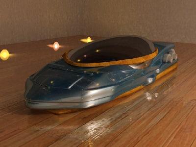 3ds max hover car futuristic