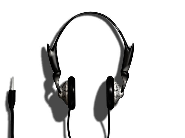 free earphone polys 3d model