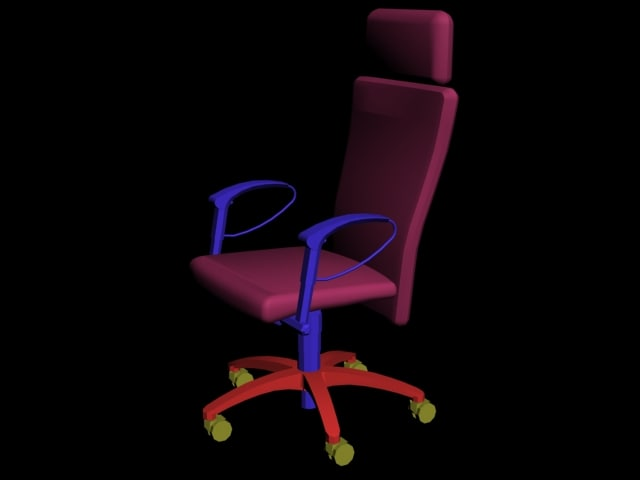 arms chair 3d model