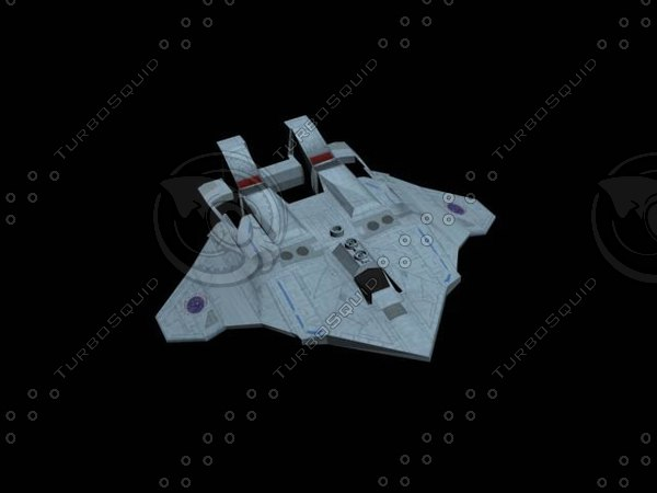 federation peregrine fighter 3d model