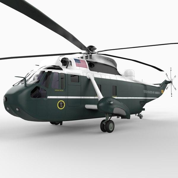 sikorsky sea king marine 3d model