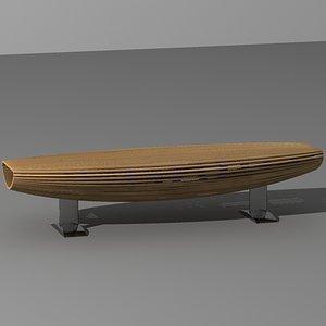 3ds garden bench