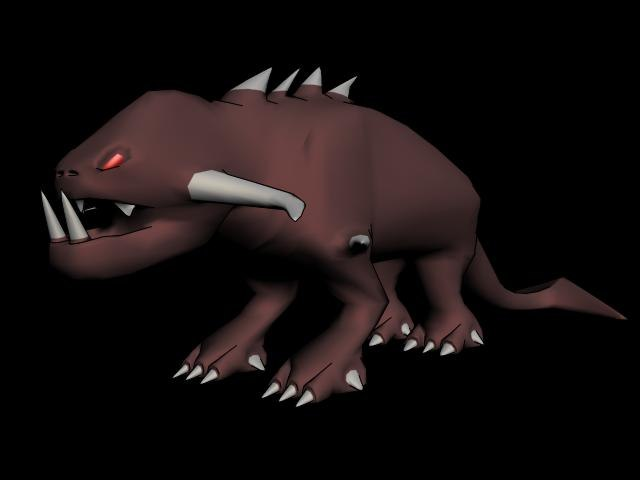 3d mutated creature model