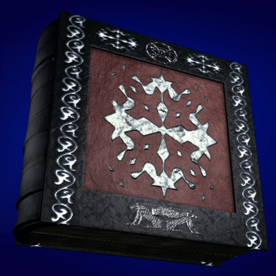 spellbook book 3d max