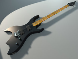 3d model electric guitar rich -