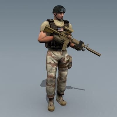 3d rigged character