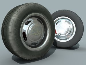 wheel tire hub brake disc 3d model