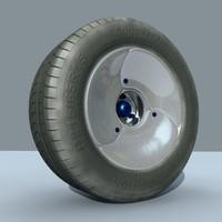 3ds max threaded wheel