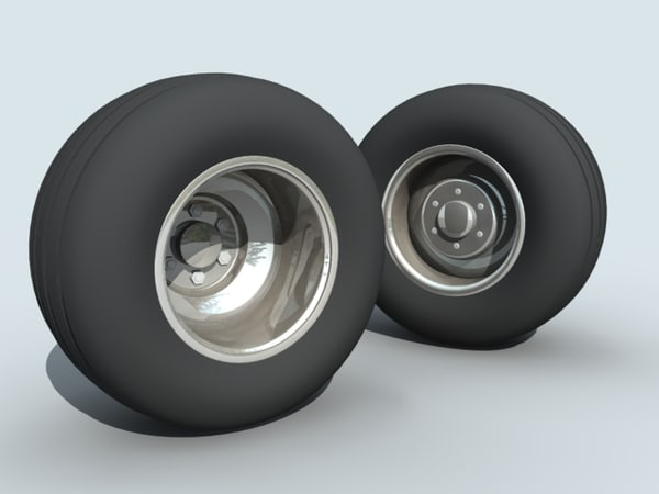 small chubby wheel 3d model
