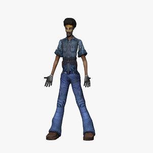 3d model of man male body