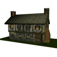 Low Poly Old Inn