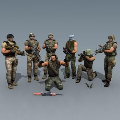 terrorist ranger delta 3d model