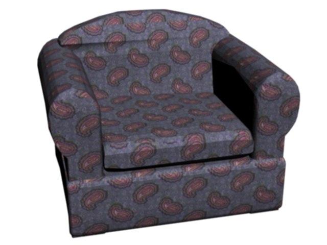 3d chair cushy