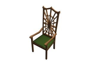 3d victorian chair