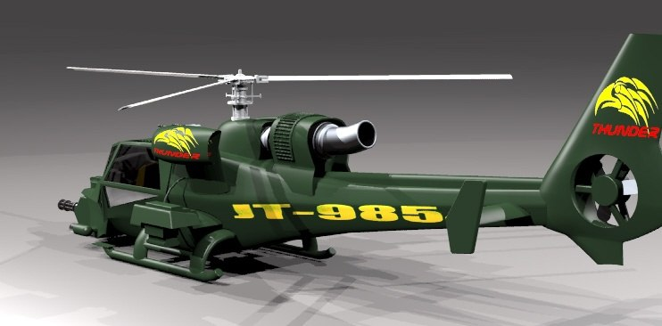 helicopter rhino 3d model