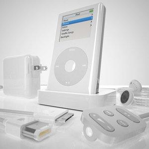 3d model apple ipod 4th generation