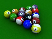 3d billard balls snooker pool