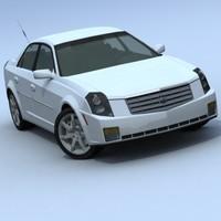 3dsmax cadillac cts sedan sport car