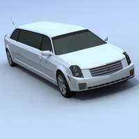 cadillac cts limousine 3d model