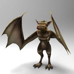 gargoyle bat gargula 3d 3ds