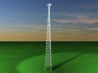 3d radio tower antennas model