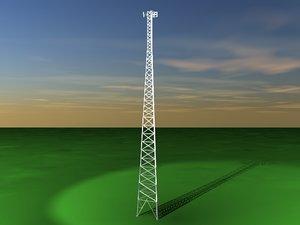 3d radio tower antennas model