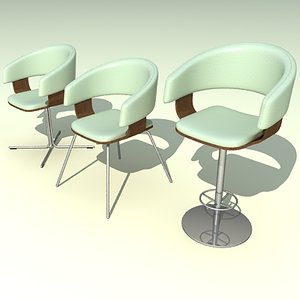 mollie cafe chairs 3d model
