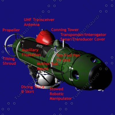 deep rescue submarines dsrvs 3d model