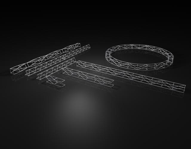 truss lighting construction 3d model