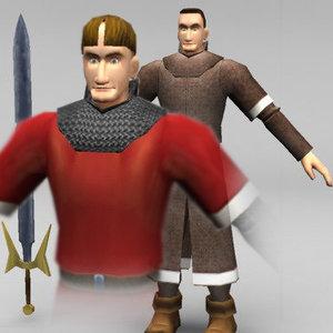 medieval knights 3d model