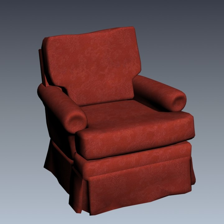 chair materials ac45g 3d model