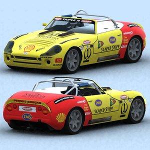 racing cars 2004 3d model