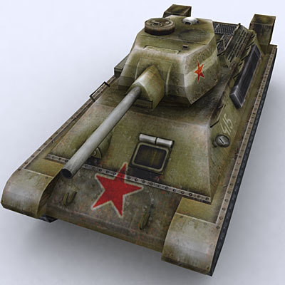 3d war military tanks t-43