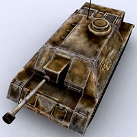 3d war military tanks stug-iii model