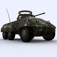 war military tanks m8 greyhound 3d 3ds