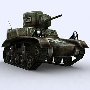 3d model war military tanks m3