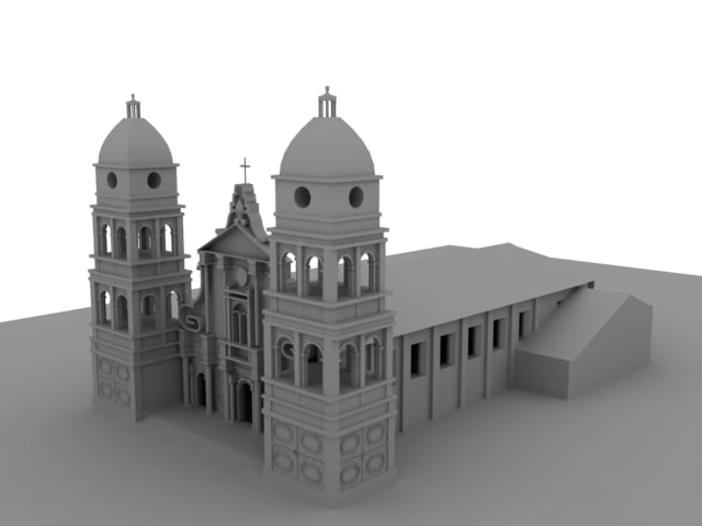 3d church santacruz building