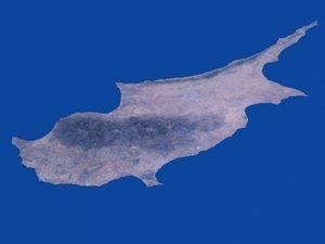 island cyprus 3d model