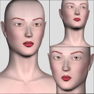 head morph face 3d model