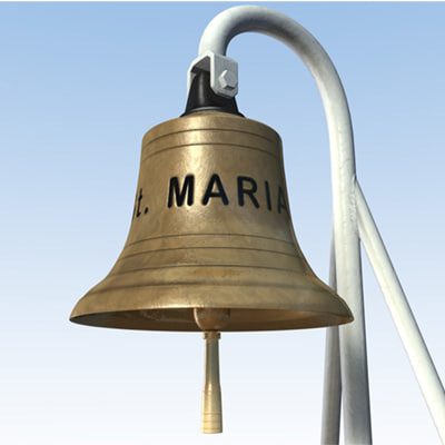 3d model hi-poly ship bell