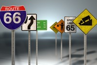 cinema4d road street signs