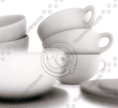3d cups plates model