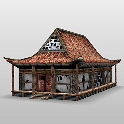 japanese japan house 3d max