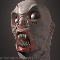 Swamp Monster Head