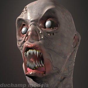 3d monster head model